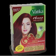 Индийская натуральная Хна для окраски волос Vatika Burgundy (Бордо)