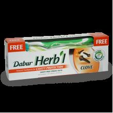 Зубная паста Dabur Herb'l Clove (гвоздика) + зубная щетка