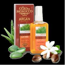"""Увлажняющее масло для тела с натуральным маслом арганы и Алоэ Вера """"Gold of Marocco"""""""