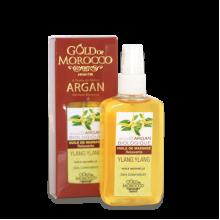 """Массажное масло """"Gold of Morocco"""" для релаксации с маслом арганы и иланг-илангом."""